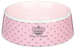 Princess Dog Keramikskål 0,45L 16cm Rosa