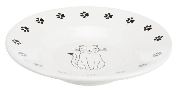 keramikskål för kortnosiga, ø 15 cm, vit