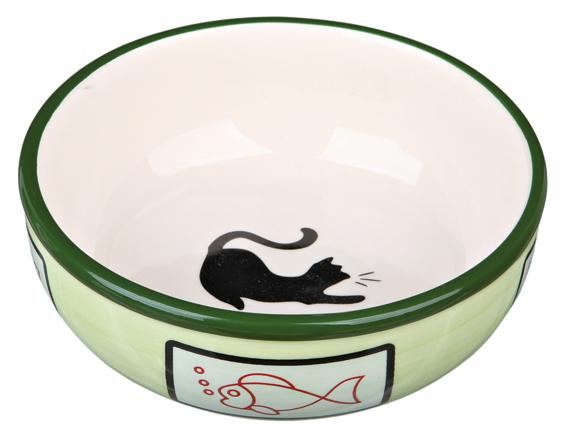 Keramikskål cat, 0.35 l/ø 12.5 cm
