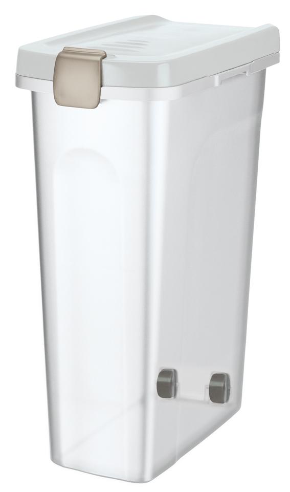 Fodertunna, 40 l/, 27 × 61 × 45 cm, transparant/vit