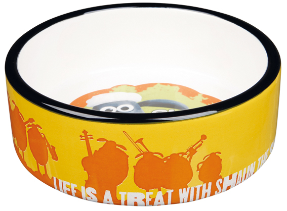 Fåret Shaun, keramikskål Shaun, 0.8 L/ø 16 cm, orange