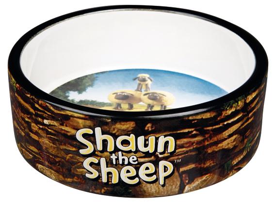 Fåret Shaun, keramikskål Shauns flock, 0.3 L/ø 12 cm, brun