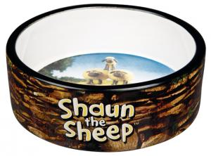 Fåret Shaun, keramikskål Shauns flock, 0.8 L/ø 16 cm, brun
