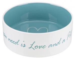 Pet's Home keramikskål, 1.4 l/ø 20 cm, cream/petrol