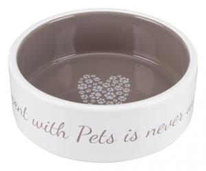 Pet's Home keramikskål, 0.3 l/ø 12 cm, cream/taupe