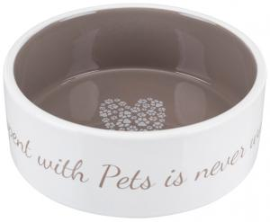 Pet's Home keramikskål, 0.8 l/ø 16 cm, cream/taupe
