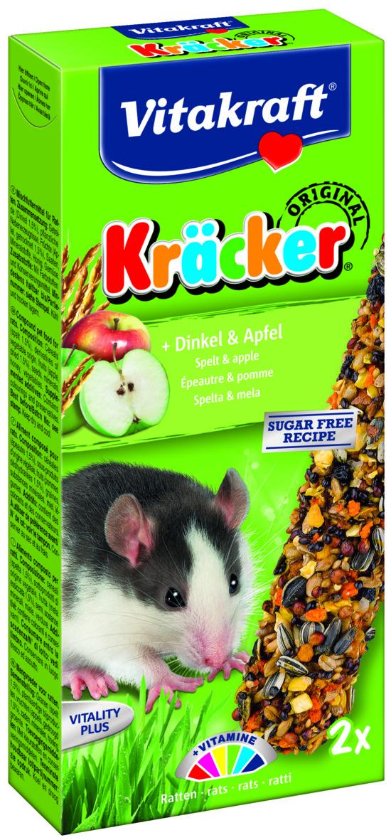Kräcker Dinkel & Äpple 2-pack, Råtta