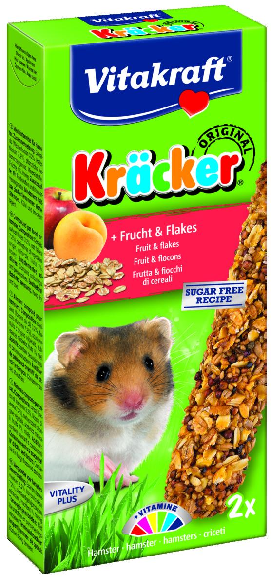 Kräcker Frukt & Flingor  2-pack, Hamster