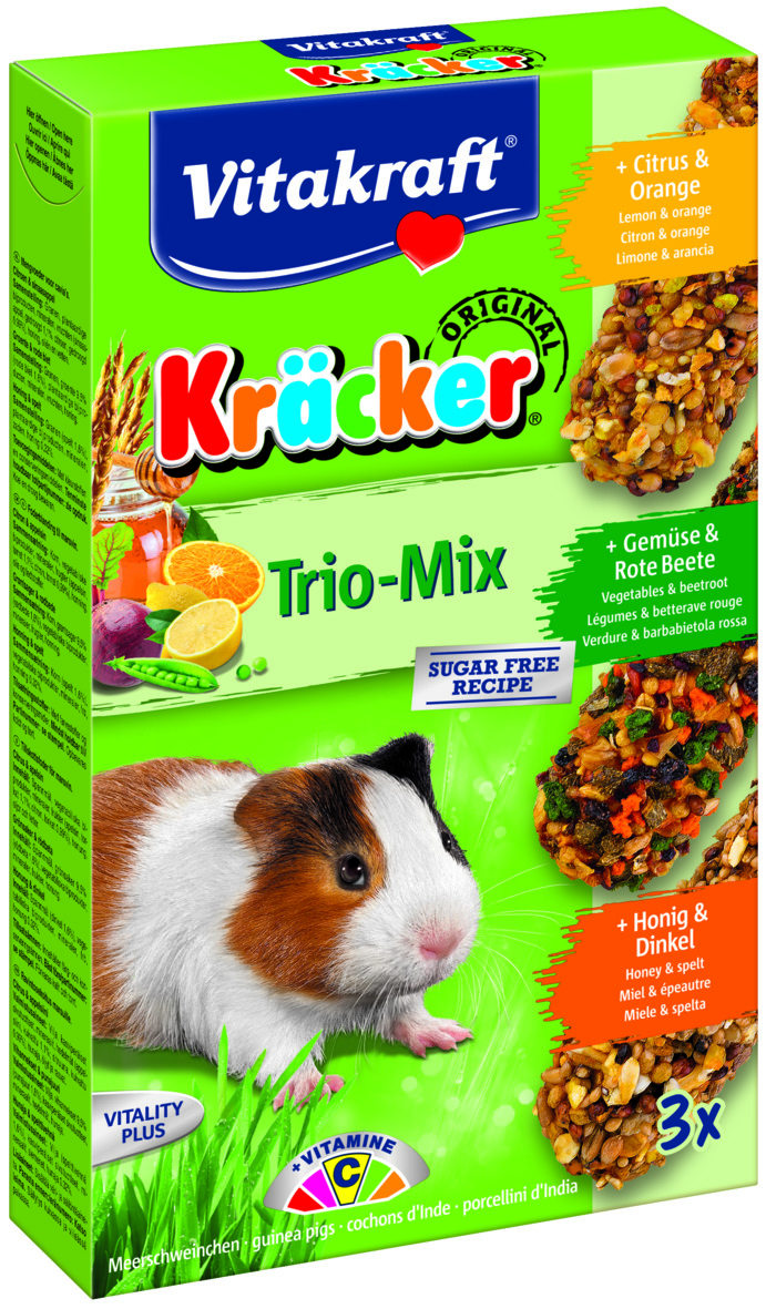Kräcker Trio-Mix Citr&Apels/ Gröns&Rödb/ Ho&Dink, Marsvin