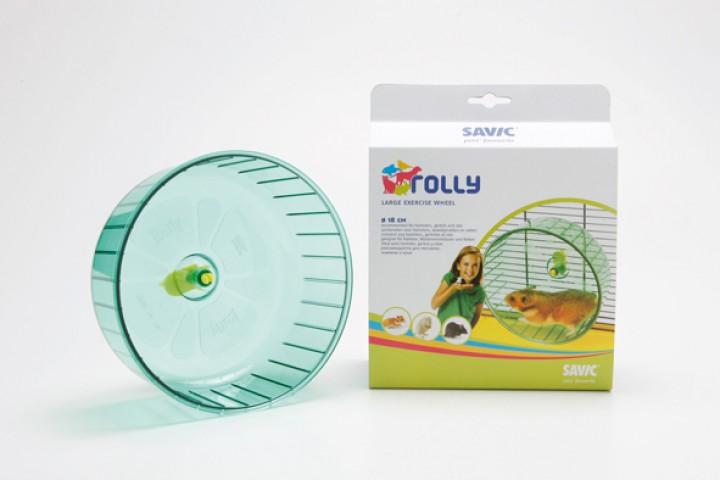 Springhjul Plast - Rolly Jumbo - Ø18cm