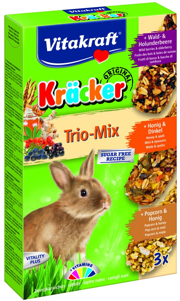 Kräcker Trio-Mix Skogsb&Flä /Ho&Di/ Popc&Ho, Kanin