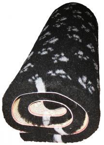 Svart med tassar 75x75 cm
