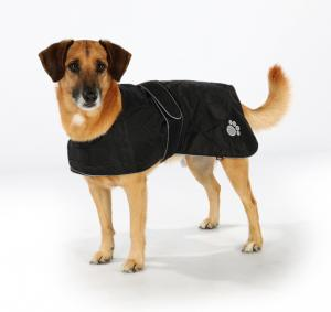 Orleans Hundtäcke Reflex/Fleece 30 cm, svart