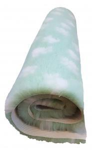 Mintgrön Fäll vit tass 75x75