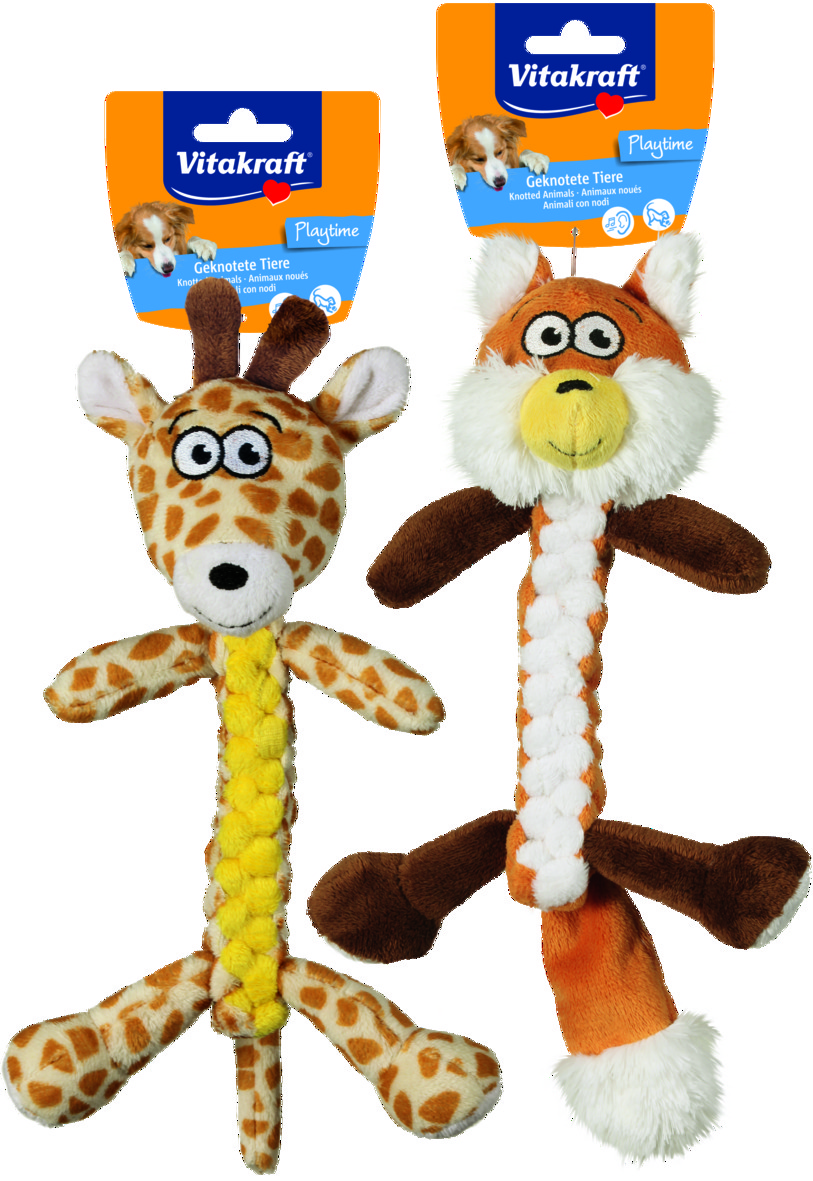Räv och Giraff, Plysch, Hund