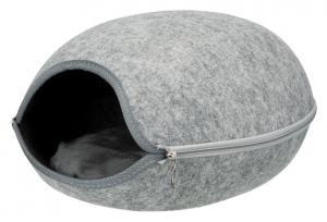 Luna igloo, filt, 40 × 24 × 46 cm, ljusgrå