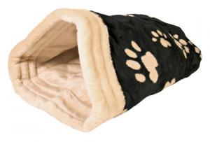 Jasira kattpåse, 25 × 27 × 45 cm, svart/beige