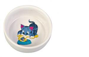 Keramikskål katt med motiv 0,3 L 11 cm