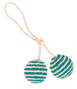 Två bollar på rep, ø 4.5 cm