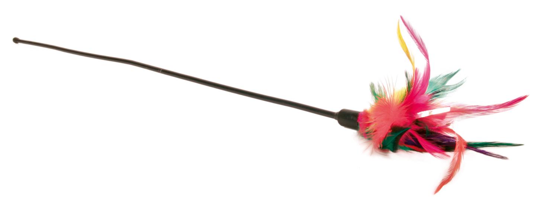Kattleksak Vippa med fjäder 50 cm