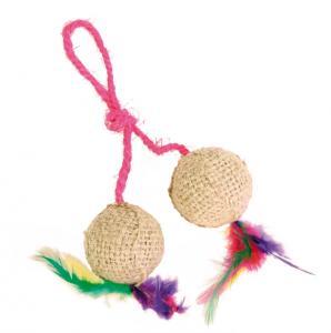 2 bollar på rep, jute, ø 4.5 cm