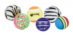 Leksaksbollar, ø3,5-4 cm, 6-pack