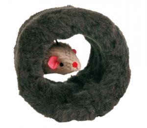 Lekrulle m plyschmus, ø 8 cm