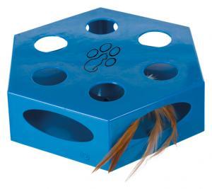 Kattleksak,Turning Feather, plast, ø 22 cm, blå