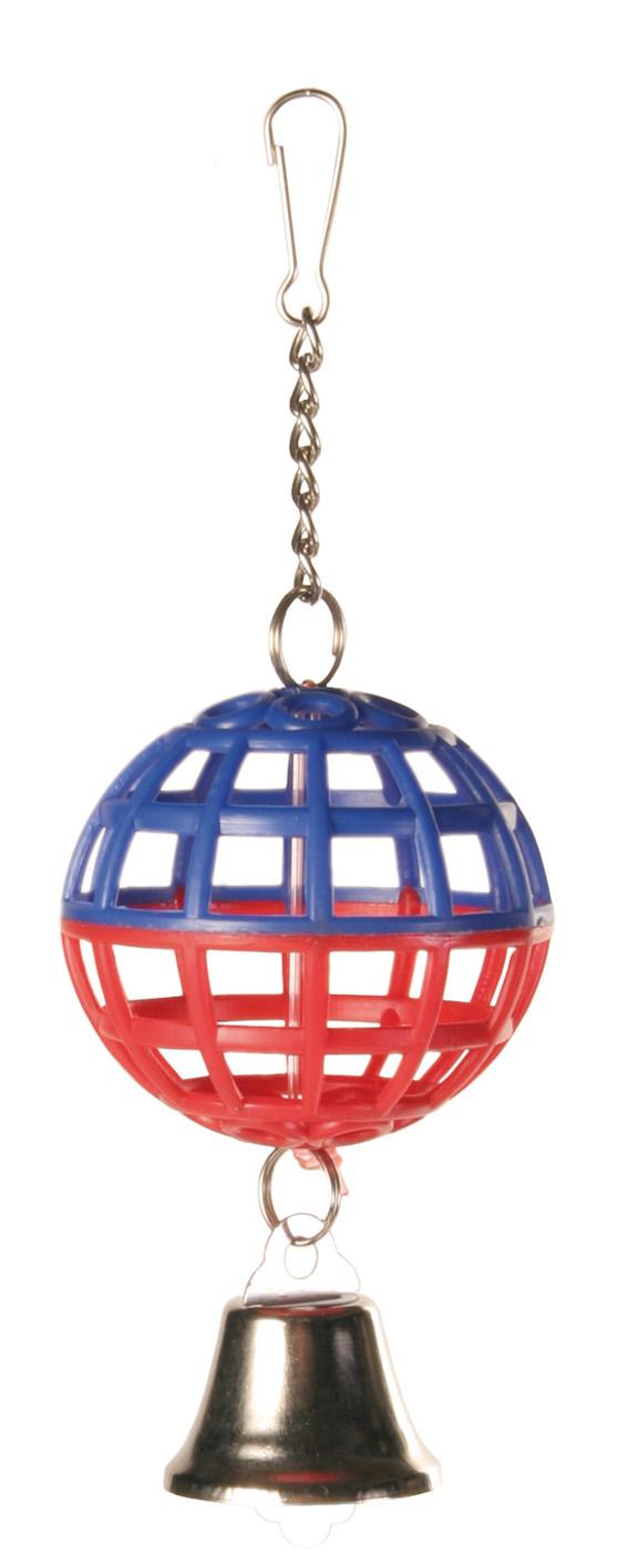 Fågelleksak Nätboll med klocka 7 cm