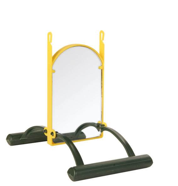 Fågelleksak Gunga med dubbelspegel 13 cm