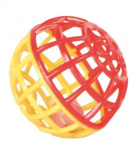 Fågelleksak Plastboll m bjällra 4,5 cm