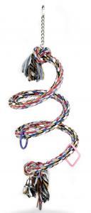 Papegojlek Flossyrep Spiral med klocka Tyrol 60x30 cm
