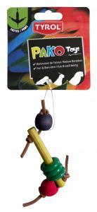 Fågelleksak Dedes Pako Pat Tyrol 22 cm