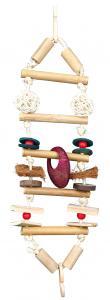 Fågelleksak hängstege med leksaker 45 cm