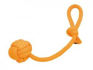 Hundleksak RopeToy Bomull - Boll/Rep - Ø6,5cm/43cm - Orange