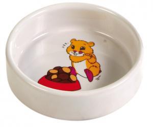 Matskål keramik motiv hamster 8,5 cm 100 ml