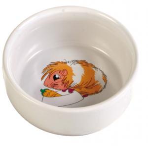 Matskål keramik motiv marsvin 11 cm 300 ml