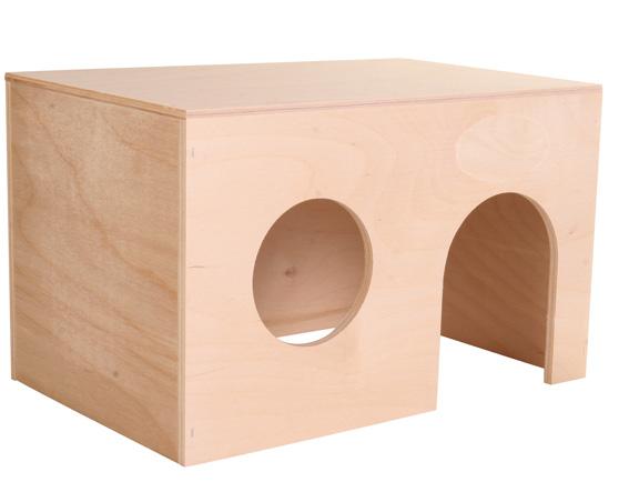 Marsvinshus plywood, 24 × 15 × 15 cm