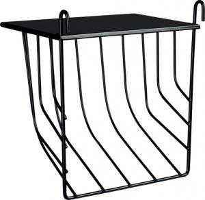 Höhäck metall m lock, 17×18×12 cm, svart