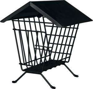 Höhäck metall stående, 20×23×20 cm, svart