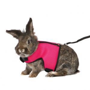 Softsele+koppel, stor kanin, 25-40 cm, 1.20 m