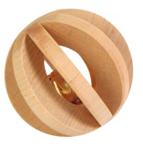 Gnagarleksak lamellboll trä 6 cm