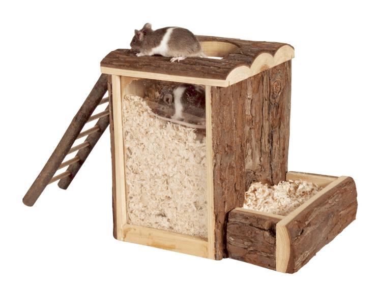 """""""NL"""" lek- och sovtorn, mus, 20,5x16x20 cm"""
