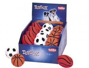 Hundleksak Latex - Sportbollar - 6,5-10cm - D-24