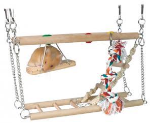 Hamster-lekstege 2-vånings 27,5x10,5x16 cm