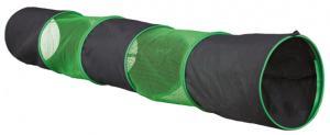 Gnagartunnel Nylon grön/grå 130x18 cm