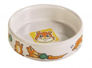Matskål keramik motiv hamster/morot 8,5 cm 100 ml