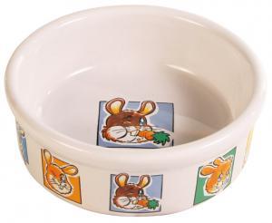Matskål keramik motiv kanin/morot 11,5 cm 300 ml