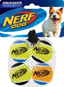 NERF SQUEAK TENNISBALLS XS 4ST