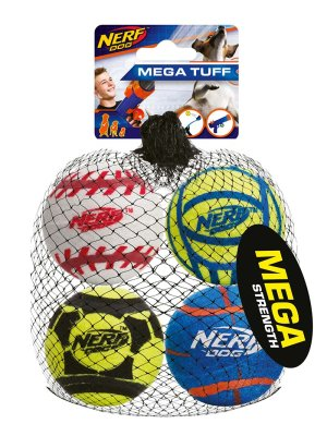 NERF PET TOUGH SPORTS BALLS 4ST M